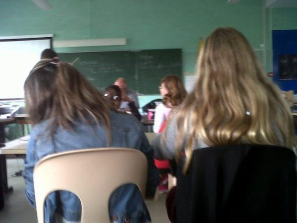 Photo au collège. ♥♥