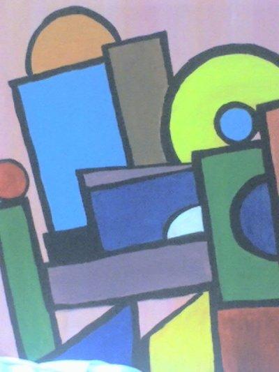 Tableau 16 ( cubisme géometrique)