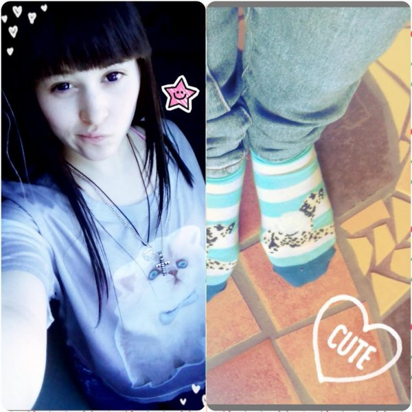 Cat shirt+ chaussettes dalmatiens et merveille