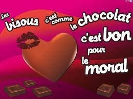 un bon bisous chocolat pour ceux qui m a laissé message je vous aime kaline