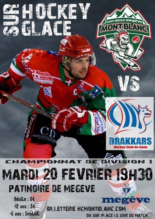 Megève : Hockey sur Glace Match Division 1 Mont-Blanc / Caen