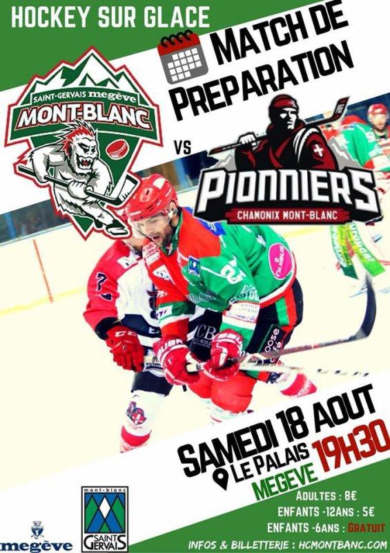 Yétis affrontent les Pionniers de Chamonix ce Samedi à Megève!