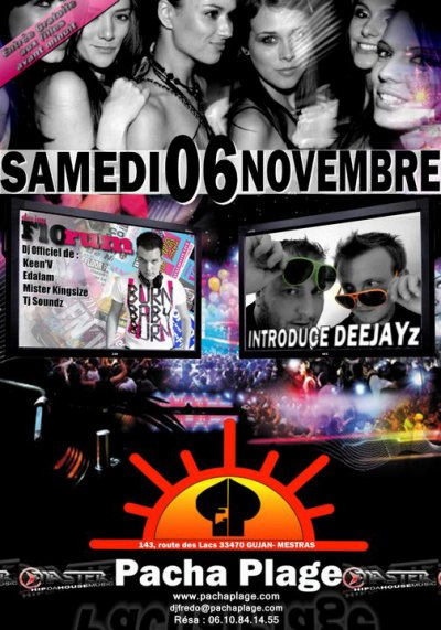 ATTENTION RDV LE SAMEDI 06 NOVEMBRE @ PACHA PLAGE (33)
