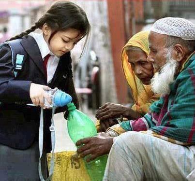 Donner sans rien attendre en retour...l'eau est aussi une aumône.