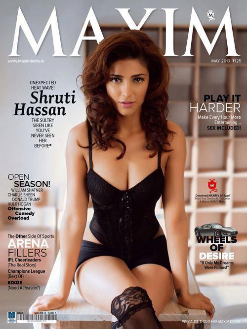 """Shruti en couverture pour le magasine """"Maxim""""!"""