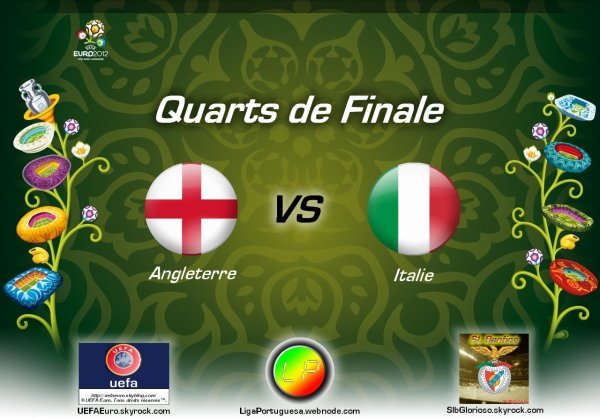UEFAEuro - UEFA Euro 2012 Quarts de finale Angleterre - Italie En partanariat avec SLBglorioso