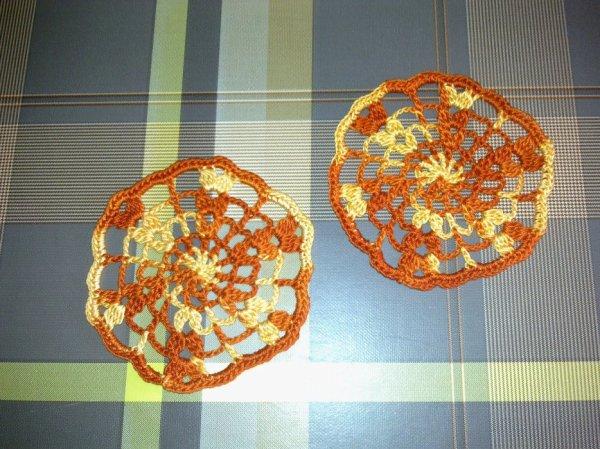 Sous-verre orange chiné