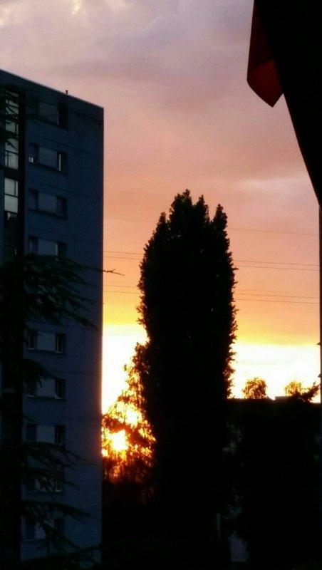 Coucher de soleil... au fil du temps