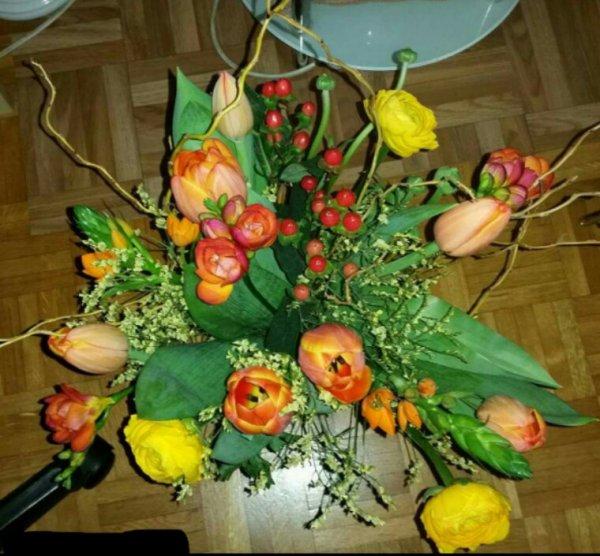 Mes bouquets reçus pour mon anniversaire