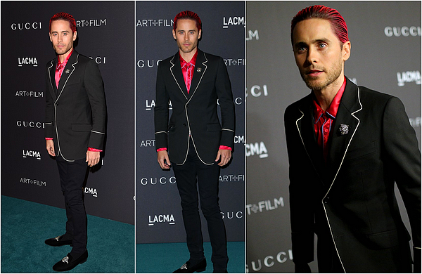 "7/11/2015 : Jared avec Diane Kruger était au ""LACMA Art+Film Gala"" à Los Angeles"