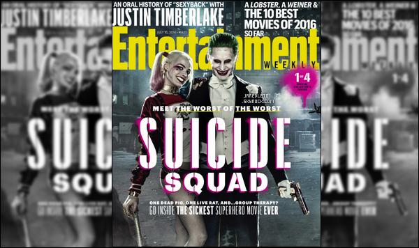 .  Jared Leto fait la couverture du magazine « ENTERTAINMENT WEEKLY »   .