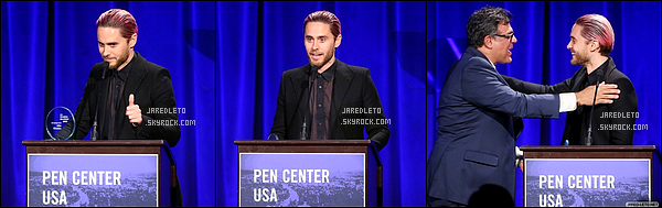 . 16.11.2015 : Jared était au PEN Center USA's 25th Annual Literary Awards Festival à Beverly Hills    .