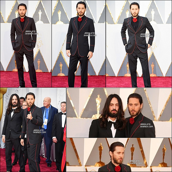 28/02/2016 - Jared était au 88th Annual Academy Awards, on peut constater que la barbe est de retour !
