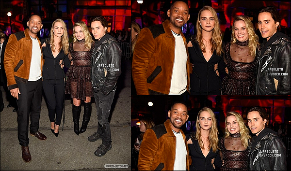 09/04/2016 - Jared était présent aux MTV movie Awards avec Margot Robbie et Will Smith entre autre...