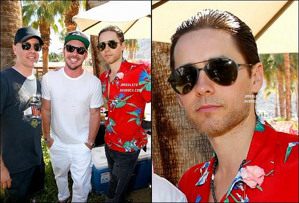 """15/04/2016 - Jared comme beaucoup d'autres stars était présent au célèbre festival """"Coachella"""""""