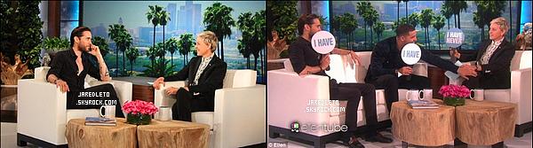 """17/05/2016 - Jared ainsi que le rappeur Drake étaient présent sur le plateau du """"Ellen Degeneres Show"""""""