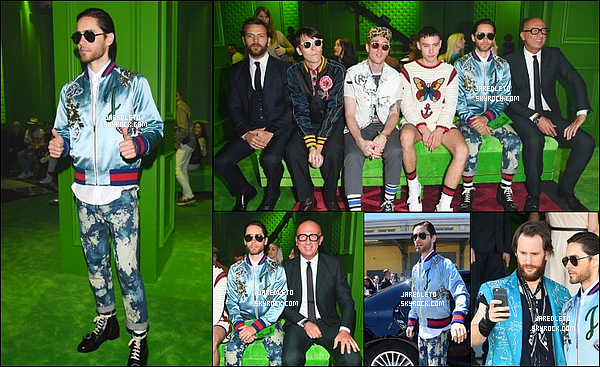 """. 20.06.2016 : Jared était présent au """"Gucci Fashion Show"""" qui s'est déroulé à Milan en  Italie ."""
