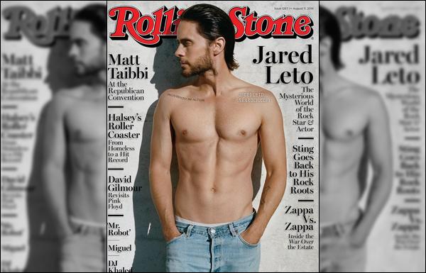 """. Jared Leto fait la couverture du célèbre magazine """"Rolling Stones""""  ."""