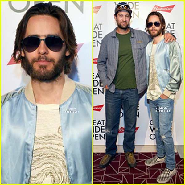 ". 19.07.2016 : Jared était à la première de son nouveau documentaire ""The Great Wide Open"" à West Hollywood ."