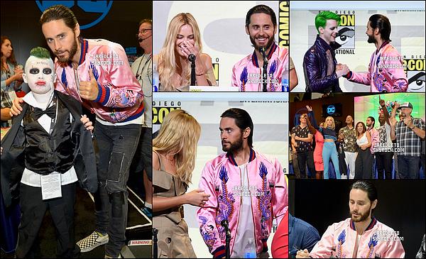 """. 23/07/2016 - Jared Leto et le cast étaient présent au Comic Con de San Diego pour promouvoir le film """"Suicide Squad""""."""