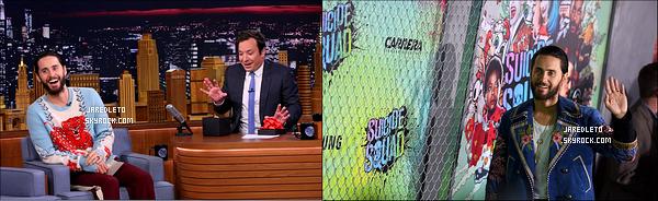 """. 01/08/2016 - Jared Leto était présent à la première de son film  """"Suicide Squad""""  au Beacon Théâtre à New York ."""