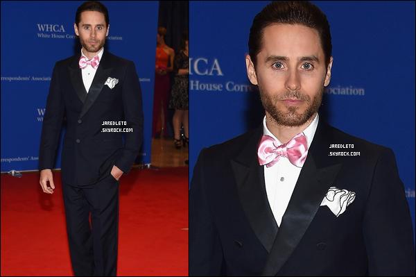 . 30/04/2015 : Jared était sur le tapis rouge du White House Correspondents' Dinner à Washington.