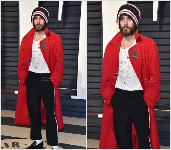 . 26/03/2017 - Jared Leto était aux Vanity Fair 2017 qui se sont déroulés à Beverly Hills en Californie. .
