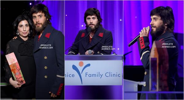 . 26/03/2017 - Jared Leto était venu honorer  Sue Kroll à la Clinique familiale de Venise Silver Circle Gala 2017!. .