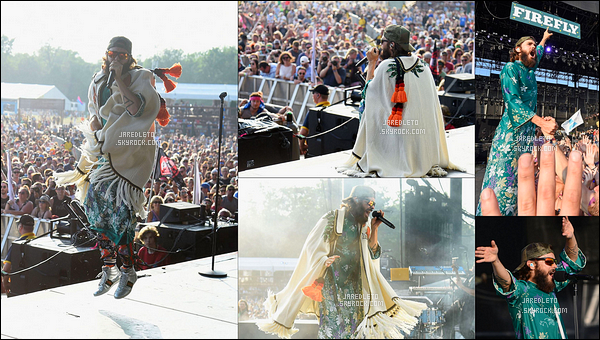 """. 18/06/2017 - Jared Leto était en concert avec son groupe 30 Seconds to Mars au festival de musique """"Firefly""""."""