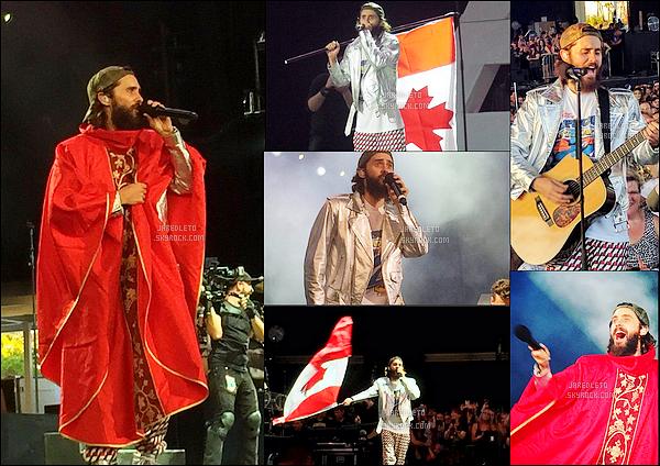. 18/07/2017 -  Mister Jared Leto et son groupe 30 Seconds To Mars poursuit sa tournée à Toronto au Canada. .
