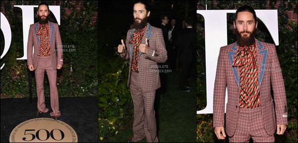 """. 09.09.2017 - Jared Leto assistait à un gala qui s'est déroulé au """"Public Hotel"""" dans la ville de  New York ."""