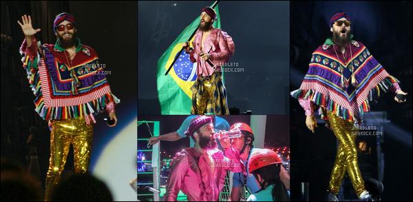 """. 24.09.2017 - Jared  et son groupe """"30 Seconds To Mars"""" étaient au """" Festival de musique de Rio"""" au Brésil ."""