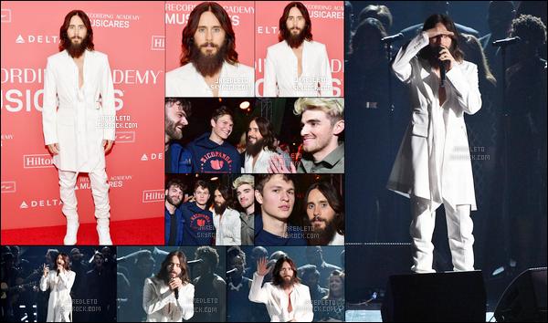 . 26.01.2018  : Jared Leto  était aux « 60ème Grammys » où il a également chanté son nouveau single à New York  .