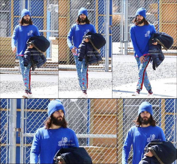 . 31.03.2018 : En ce dernier jour de Mars Jared vêtu d'un bonnet bleu a été vu se promenant dans la ville de  New York  .