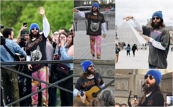 . 16.04.2018 : Jared continue sa tournée et a donné un concert surprise à ses fans au Louvre à Paris   .