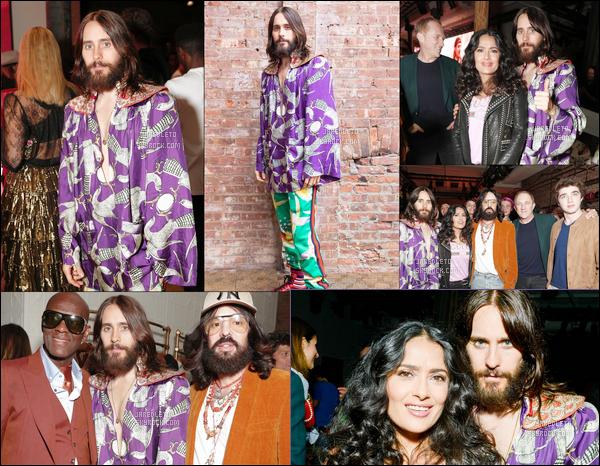 """. 05.05.2018 : Jared Leto était présent à l'inauguration du nouveau magasin """"Gucci"""" à  New York   ."""