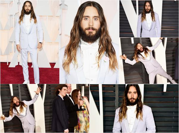 . 22.02.2015 : Jared était présent sur le tapis rouge puis à l'after party des « Academy Awards » à Beverly Hills  .
