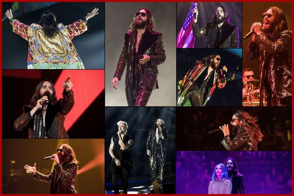 . 19.07.2018 :  Jared Leto, était en concert dans la ville d'Inglewood ou il était en duo avec la chanteuse Halsey   .