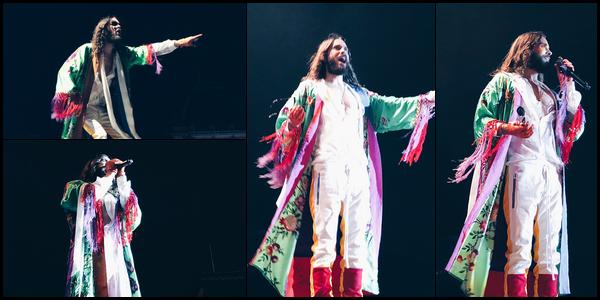 . 18.08.2018 :  Jared Leto, a donné un concert dans le cadre de sa tournée avec son groupe à Bruxelles en Belgique   .