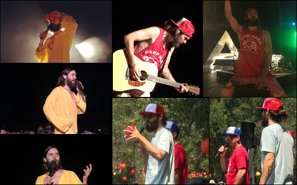 . 11.08.2018 :  Jared Leto, et son frère Shannon étaient au Camp Mars situé à Malibu où Jared a parlé  .