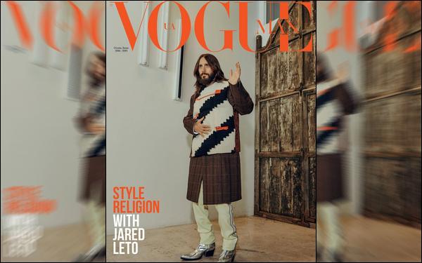 . Jared Leto fait la couverture du magazine «Vogue UA Man » d'Automne/Hiver 2018  .