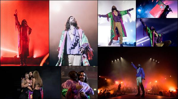 . 12.09.2018 :  Jared Leto poursuit sa tournée «Monolith Tour»  et a performé dans la ville de Lisbonne au Portugal   .