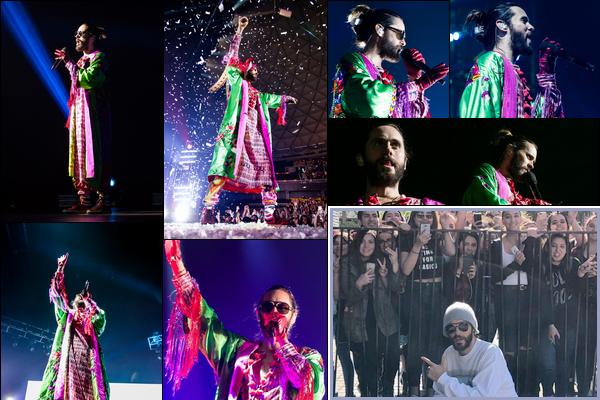 02.10.2018 :  Jared en tournée «Monolith Tour» a donné un concert au Movistar Arena à Santiago au Chili