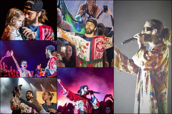 30.09.2018 :  Jared en tournée «Monolith Tour» a donné un concert au théâtre Positivo à Curitiba au Brésil