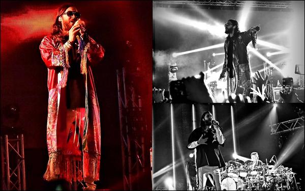 04.10.2018 :  Jared en tournée « Monolith Tour » a donné un concert dans la ville de Montevideo en Uruguay