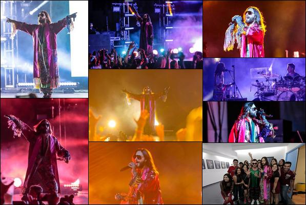 13.10.2018 :  Jared Leto pour le dernier concert de sa tournée « Monolith Tour » était à Guadalajara au  Mexique