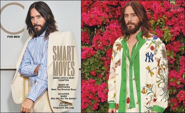 . Jared Leto fait la couverture du magazine « C For men » d'Automne/Hiver 2018  .