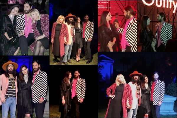 02.11.2018 : En ce début Novembre Jared  était avec Lana Del Rey au  « Gucci Guilty Launch Party  » à Hollywood