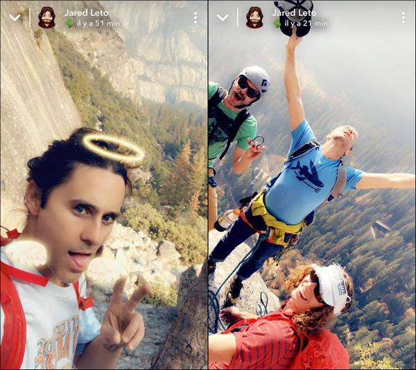 . • Jared Leto a partagé des photos sur sa story snapchat et surprise il a enfin rasé sa barbe.