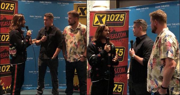 05.12.2018 : Jared Leto  était présent à la  « Holiday Havok x 107.5 Radio  » à Las Vegas où il a donné un concert